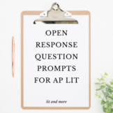 Open Response Question Prompts for AP Lit