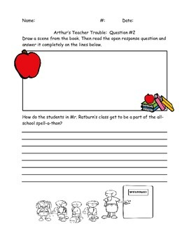 "Open Response Questions for ""Arthur's Teacher Trouble"""