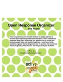 Open Response Writing Organizer