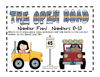 Open Road Number Fun 10-20, Transportation Theme
