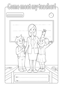 Open School Coloring Page