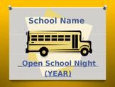 Open School Night PowerPoint Presentation