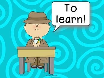 Open Sentences Posters - Quantum Learning - Detective Theme {EDITABLE}