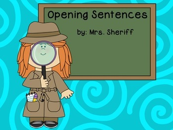 Open Sentences Posters - Quantum Learning - Detective Them