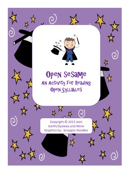 Open Sesame - An Activity for Reading Open Syllables