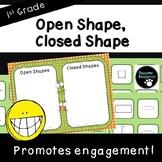 Open Shape, Closed Shape Sort Game (First Grade-1.G.1)