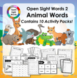 Open Sight Words 2 - Animal Words - for PM Readers - Activ