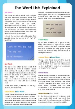 Open Sight Words - A Free Sight Word program to use with PM Guided Readers
