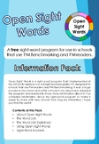 Open Sight Words - A Free Sight Word program to use with P