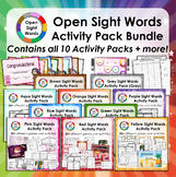 Open Sight Words for PM Readers - Activity Pack Bundle + A