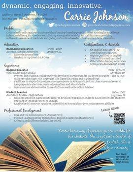 Creative Teacher Resume - Open Sky Template
