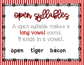Open Syllable Mini Lesson for Small Group and Whole Group