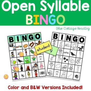 Open Syllable Bingo