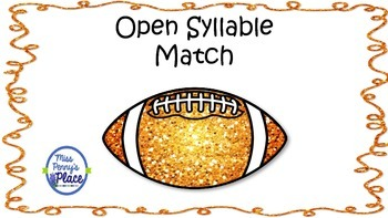 Open Syllable Football Match