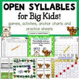 Open Syllable Games and Activities for Big Kids!