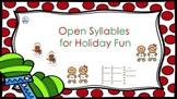 Open Syllable Gingerbread