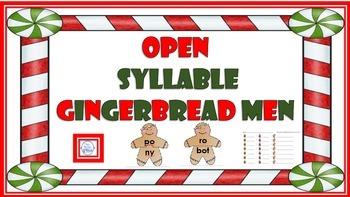 Open Syllable Gingerbread Men