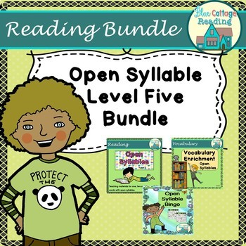 Open Syllable Level Five Bundle