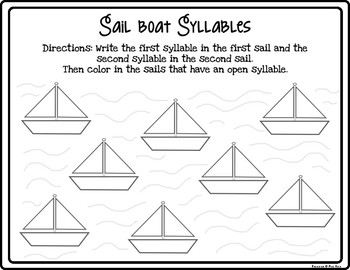 Open Syllable Practice