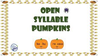 Open Syllable Pumpkins