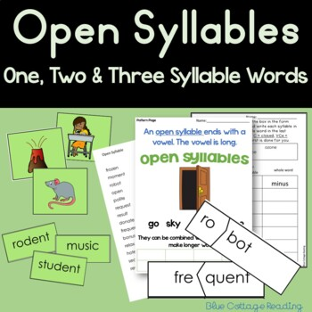 Open Syllable (Level 5 Teaching Packet)