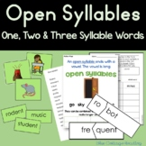 Open Syllable Teaching Packet