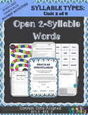 Syllable Types: Open Syllables