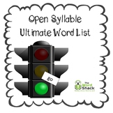 Open Syllable Ultimate Word List