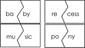 Open Syllable Word Puzzles