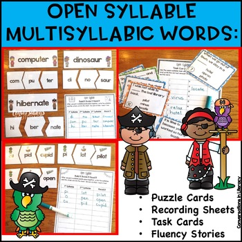 Open Syllable Words:  A Pirate's Treasure of Figuring Out the Clues