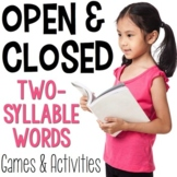 Open Syllables & Closed Syllables for Two-Syllable Words