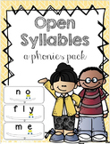 Open Syllables Made Simple (a phonics pack)