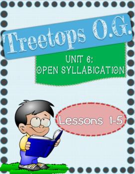 Open Syllables: Orton Gillingham Unit 6