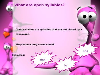 Open Syllables Powerpoint