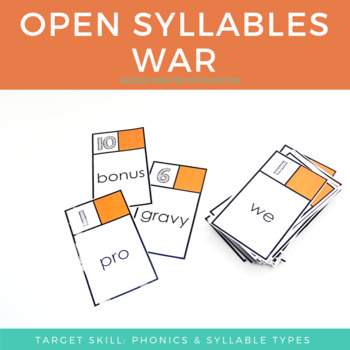Open Syllables Word War