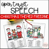 Christmas Speech Therapy - Word Lists and Coloring Pages -