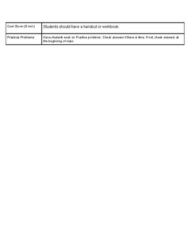 Open Up Resource: Unit 1 Lesson 3 Plan