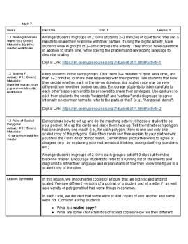 Open Up Resources: Unit 1 Lesson 1 Plan