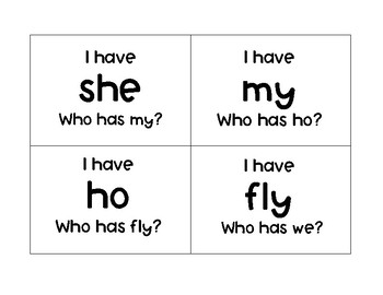 """Open Vowel """"I have__ Who has__?"""""""