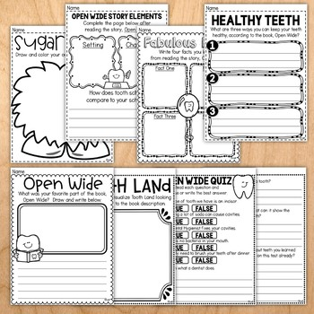 Open Wide Dental Unit for Primary Learners (Based on Book by Laurie Keller)