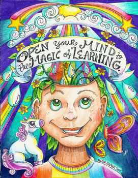 Open Your Mind colored poster