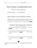 Open a Combination Lock