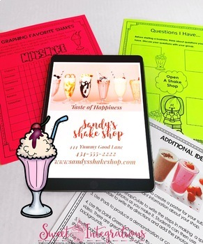 Open a Shake Shop Business | Project Based Learning Activity PBL | Economics