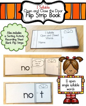 One Syllable: Open the Door (Flip Strip Book)