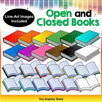 Open and Closed Book Clipart