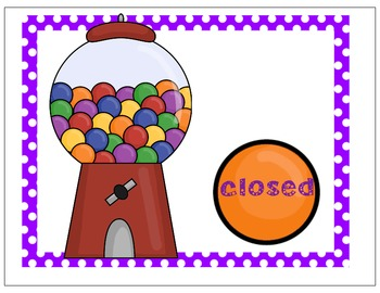 Open and Closed Gum Ball Syllables