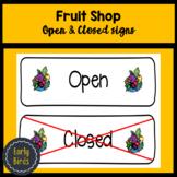 Fruit Shop signs