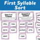 Syllable Centers: Open and Closed Sorts and Word Building Activity