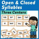 Open and Closed Syllable Centers with Sorts and a Word Bui