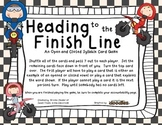 Open and Closed Syllable- Heading to the Finish Line Card Game